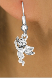 "<bR>                   EXCLUSIVELY OURS!!<BR>             AN ALLAN ROBIN DESIGN!!<BR>    CLICK HERE TO SEE 600+ EXCITING<BR>       CHANGES THAT YOU CAN MAKE!<BR>                  LEAD & NICKEL FREE!!<BR>            W1067SE - ""FLYING ANGEL""<Br>EARRINGS FROM $4.50 TO $8.35 �2011"