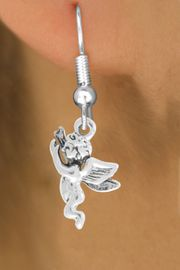 """<bR>                   EXCLUSIVELY OURS!!<BR>             AN ALLAN ROBIN DESIGN!!<BR>    CLICK HERE TO SEE 600+ EXCITING<BR>       CHANGES THAT YOU CAN MAKE!<BR>                  LEAD & NICKEL FREE!!<BR>            W1067SE - """"FLYING ANGEL""""<Br>EARRINGS FROM $4.50 TO $8.35 �2011"""