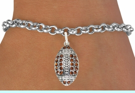 <bR>                             EXCLUSIVELY OURS!!<BR>                       AN ALLAN ROBIN DESIGN!!<BR>              CLICK HERE TO SEE 600+ EXCITING<BR>                 CHANGES THAT YOU CAN MAKE!<BR>                            LEAD & NICKEL FREE!!<BR>       W1068SB - TOPAZ & CRYSTAL FOOTBALL<br>          BRACELET FROM $5.40 TO $9.85 &#169;2011