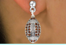 <bR>                                EXCLUSIVELY OURS!!<BR>                          AN ALLAN ROBIN DESIGN!!<BR>                 CLICK HERE TO SEE 600+ EXCITING<BR>                    CHANGES THAT YOU CAN MAKE!<BR>                               LEAD & NICKEL FREE!!<BR>           W1068SE - TOPAZ & CRYSTAL FOOTBALL <br>           EARRINGS FROM $4.95 TO $10.00 �2011
