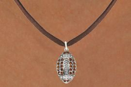 <bR>                            EXCLUSIVELY OURS!!<BR>                      AN ALLAN ROBIN DESIGN!!<BR>             CLICK HERE TO SEE 600+ EXCITING<BR>                CHANGES THAT YOU CAN MAKE!<BR>                           LEAD & NICKEL FREE!!<BR>      W1068SN - TOPAZ & CRYSTAL FOOTBALL<br>         NECKLACE FROM $5.40 TO $9.85 �2011