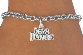 """<bR>                                 EXCLUSIVELY OURS!!<BR>                           AN ALLAN ROBIN DESIGN!!<BR>                  CLICK HERE TO SEE 600+ EXCITING<BR>                     CHANGES THAT YOU CAN MAKE!<BR>                   LEAD, CADMIUM,  & NICKEL FREE!!<BR>                        W1071SB - """"5, 6, 7, 8, DANCE""""<Br>             BRACELET FROM $4.15 TO $8.00 &#169;2011"""