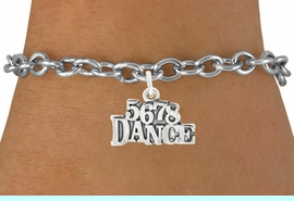 """<bR>                                 EXCLUSIVELY OURS!!<BR>                           AN ALLAN ROBIN DESIGN!!<BR>                  CLICK HERE TO SEE 600+ EXCITING<BR>                     CHANGES THAT YOU CAN MAKE!<BR>                                LEAD & NICKEL FREE!!<BR>                        W1071SB - """"5, 6, 7, 8, DANCE""""<Br>             BRACELET FROM $4.15 TO $8.00 &#169;2011"""
