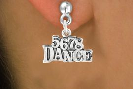"""<bR>                             EXCLUSIVELY OURS!!<BR>                       AN ALLAN ROBIN DESIGN!!<BR>              CLICK HERE TO SEE 600+ EXCITING<BR>                 CHANGES THAT YOU CAN MAKE!<BR>                            LEAD & NICKEL FREE!!<BR>                    W1071SE - """"5, 6, 7, 8, DANCE""""<Br>          EARRINGS FROM $4.50 TO $8.35 �2011"""