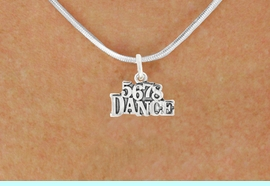 """<bR>                            EXCLUSIVELY OURS!!<BR>                      AN ALLAN ROBIN DESIGN!!<BR>             CLICK HERE TO SEE 600+ EXCITING<BR>                CHANGES THAT YOU CAN MAKE!<BR>                           LEAD & NICKEL FREE!!<BR>                   W1071SN - """"5, 6, 7, 8, DANCE""""<Br>        NECKLACE FROM $4.50 TO $8.35 �2011"""