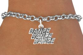 """<bR>                                 EXCLUSIVELY OURS!!<BR>                           AN ALLAN ROBIN DESIGN!!<BR>                  CLICK HERE TO SEE 1600+ EXCITING<BR>                     CHANGES THAT YOU CAN MAKE! <BR>                  LEAD, CADIMIUM,  & NICKEL FREE!!<BR>                W1072SB - """"DANCE, DANCE, DANCE""""<Br>             BRACELET FROM $4.15 TO $8.00 &#169;2011"""
