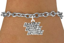 "<bR>                                 EXCLUSIVELY OURS!!<BR>                           AN ALLAN ROBIN DESIGN!!<BR>                  CLICK HERE TO SEE 600+ EXCITING<BR>                     CHANGES THAT YOU CAN MAKE!<BR>                                LEAD & NICKEL FREE!!<BR>                W1072SB - ""DANCE, DANCE, DANCE""<Br>             BRACELET FROM $4.15 TO $8.00 &#169;2011"