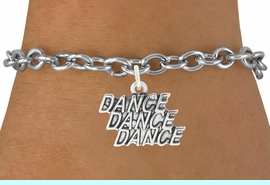 """<bR>                                 EXCLUSIVELY OURS!!<BR>                           AN ALLAN ROBIN DESIGN!!<BR>                  CLICK HERE TO SEE 600+ EXCITING<BR>                     CHANGES THAT YOU CAN MAKE!<BR>                                LEAD & NICKEL FREE!!<BR>                W1072SB - """"DANCE, DANCE, DANCE""""<Br>             BRACELET FROM $4.15 TO $8.00 &#169;2011"""