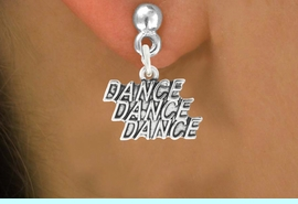 """2<bR>                             EXCLUSIVELY OURS!!<BR>                       AN ALLAN ROBIN DESIGN!!<BR>              CLICK HERE TO SEE 600+ EXCITING<BR>                 CHANGES THAT YOU CAN MAKE!<BR>                            LEAD & NICKEL FREE!!<BR>              W1072SE - """"DANCE, DANCE, DANCE""""<Br>                      EARRINGS $12.68 EACH �2011"""