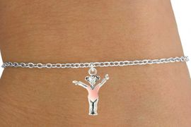 "<bR>                        EXCLUSIVELY OURS!!<BR>                  AN ALLAN ROBIN DESIGN!!<BR>         CLICK HERE TO SEE 600+ EXCITING<BR>            CHANGES THAT YOU CAN MAKE!<BR>                       LEAD & NICKEL FREE!!<BR>         W1074SCB - ""LITTLE GIRL GYMNAST""<Br>                CHILDREN'S BRACELET FROM<br>                       $4.15 TO $8.00 �2011"