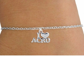 "<bR>  CHILDREN'S CHARM BRACELET-ADJUSTABLE                <BR>           <BR>                  LEAD, CADMIUM & NICKEL FREE!!<BR>   W1081SCB - ""I LOVE ACRO"" CHILDREN'S CHARM<Br>         BRACELET  $8.38 EACH �2011"