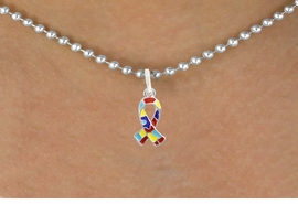 <bR>                   EXCLUSIVELY OURS!!<BR>             AN ALLAN ROBIN DESIGN!!<BR>    CLICK HERE TO SEE 600+ EXCITING<BR>       CHANGES THAT YOU CAN MAKE!<BR>                 LEAD, NICKEL & FREE!!<BR>W1091SN - MINI AUTISM AWARENESS<BR> PUZZLE RIBBON CHARM & NECKLACE<Br>           FROM $4.50 TO $8.35 �2011