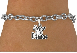 "<bR>                              EXCLUSIVELY OURS!!<BR>                        AN ALLAN ROBIN DESIGN!!<BR>               CLICK HERE TO SEE 600+ EXCITING<BR>                  CHANGES THAT YOU CAN MAKE!<BR>                  LEAD, CADIUM, & NICKEL FREE!!<BR>             W1094SB - ""BORN TO DANCE"" CHARM<Br>         & BRACELET FROM $4.15 TO $8.00 &#169;2011"