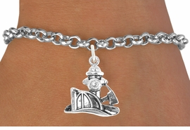 "<bR>                              EXCLUSIVELY OURS!!<BR>                        AN ALLAN ROBIN DESIGN!!<BR>               CLICK HERE TO SEE 600+ EXCITING<BR>                  CHANGES THAT YOU CAN MAKE!<BR>                             LEAD & NICKEL FREE!!<BR>          W1096SB - ""FIREMAN'S TOOLS"" CHARM<Br>         & BRACELET FROM $4.15 TO $8.00 &#169;2011"