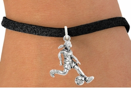 """<bR>                              EXCLUSIVELY OURS!!<BR>                        AN ALLAN ROBIN DESIGN!!<BR>               CLICK HERE TO SEE 600+ EXCITING<BR>                  CHANGES THAT YOU CAN MAKE!<BR>                             LEAD & NICKEL FREE!!<BR>              W1097SB - """"SOCCER GIRL"""" CHARM<Br>         & BRACELET FROM $4.15 TO $8.00 ©2011"""