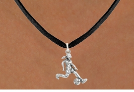 """<bR>                            EXCLUSIVELY OURS!!<BR>                      AN ALLAN ROBIN DESIGN!!<BR>             CLICK HERE TO SEE 600+ EXCITING<BR>                CHANGES THAT YOU CAN MAKE!<BR>                           LEAD & NICKEL FREE!!<BR>             W1097SN - """"SOCCER GIRL"""" CHARM<Br>      & NECKLACE FROM $4.50 TO $8.35 �2011"""