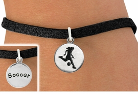 """<bR>                              EXCLUSIVELY OURS!!<BR>                        AN ALLAN ROBIN DESIGN!!<BR>               CLICK HERE TO SEE 600+ EXCITING<BR>                  CHANGES THAT YOU CAN MAKE!<BR>                             LEAD & NICKEL FREE!!<BR>W1098SB - 2 SIDED """"GIRL KICKING BALL / SOCCER""""<Br>   CHARM & BRACELET FROM $4.15 TO $8.00 &#169;2011"""