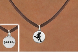 """<bR>                            EXCLUSIVELY OURS!!<BR>                      AN ALLAN ROBIN DESIGN!!<BR>             CLICK HERE TO SEE 600+ EXCITING<BR>                CHANGES THAT YOU CAN MAKE!<BR>                           LEAD & NICKEL FREE!!<BR>W1098SN - 2 SIDED """"GIRL KICKING BALL / SOCCER""""<Br>  CHARM & NECKLACE FROM $4.50 TO $8.35 �2011"""