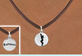 """<bR>                                  EXCLUSIVELY OURS!!<BR>                            AN ALLAN ROBIN DESIGN!!<BR>                   CLICK HERE TO SEE 600+ EXCITING<BR>                      CHANGES THAT YOU CAN MAKE!<BR>                                 LEAD & NICKEL FREE!!<BR>W1099SN - 2 SIDED """"GIRL CATCHING BALL / SOFTBALL""""<Br>    CHARM & NECKLACE FROM $4.50 TO $8.35 �2011"""