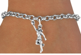 "<bR>                              EXCLUSIVELY OURS!!<BR>                        AN ALLAN ROBIN DESIGN!!<BR>               CLICK HERE TO SEE 600+ EXCITING<BR>                  CHANGES THAT YOU CAN MAKE!<BR>                             LEAD & NICKEL FREE!!<BR>W1100SB - ""GIRL CATCHING SOFTBALL"" CHARM<Br>         & BRACELET FROM $4.15 TO $8.00 &#169;2011"
