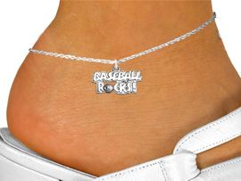 """<bR>                      EXCLUSIVELY OURS!!<BR>                AN ALLAN ROBIN DESIGN!!<BR>       CLICK HERE TO SEE 600+ EXCITING<BR>          CHANGES THAT YOU CAN MAKE!<BR>                     LEAD & NICKEL FREE!!<BR>      W1102SAK - """"BASEBALL ROCKS"""" CHARM  <Br>     &  ANKLET FROM $3.35 TO $8.00 �2011"""