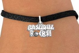 """<bR>                      EXCLUSIVELY OURS!!<BR>                AN ALLAN ROBIN DESIGN!!<BR>       CLICK HERE TO SEE 600+ EXCITING<BR>          CHANGES THAT YOU CAN MAKE!<BR>                     LEAD & NICKEL FREE!!<BR>    W1102SB - """"BASEBALL ROCKS"""" CHARM & <Br>     BRACELET FROM $4.15 TO $8.00 �2011"""