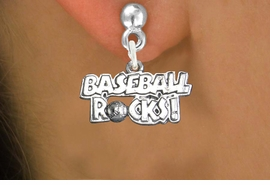 "<bR>                   EXCLUSIVELY OURS!!<BR>             AN ALLAN ROBIN DESIGN!!<BR>    CLICK HERE TO SEE 600+ EXCITING<BR>       CHANGES THAT YOU CAN MAKE!<BR>                  LEAD & NICKEL FREE!!<BR>W1102SE - ""BASEBALL ROCKS"" CHARM<Br>EARRINGS FROM $4.50 TO $8.35 �2011"