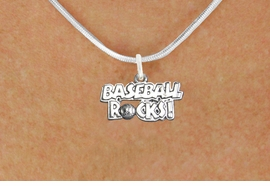 "<bR>                      EXCLUSIVELY OURS!!<BR>                AN ALLAN ROBIN DESIGN!!<BR>       CLICK HERE TO SEE 600+ EXCITING<BR>          CHANGES THAT YOU CAN MAKE!<BR>                     LEAD & NICKEL FREE!!<BR>  W1102SN - ""BASEBALL ROCKS"" CHARM & <Br>    NECKLACE FROM $4.50 TO $8.35 �2011"