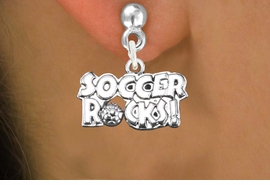 """<bR>                      EXCLUSIVELY OURS!!<BR>                AN ALLAN ROBIN DESIGN!!<BR>       CLICK HERE TO SEE 600+ EXCITING<BR>          CHANGES THAT YOU CAN MAKE!<BR>                     LEAD & NICKEL FREE!!<BR>     W1103SE - """"SOCCER ROCKS"""" CHARM<Br>    EARRINGS FROM $4.50 TO $8.35 �2011"""
