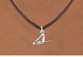 "<bR>                      EXCLUSIVELY OURS!!<BR>                AN ALLAN ROBIN DESIGN!!<BR>       CLICK HERE TO SEE 600+ EXCITING<BR>          CHANGES THAT YOU CAN MAKE!<BR>                     LEAD & NICKEL FREE!!<BR> W1104SN - ""GYMNASTIC TUMBLER"" CHARM <Br>   & NECKLACE FROM $9.38 EACH �2011"