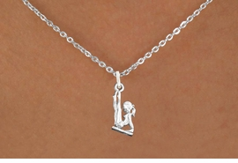 "<bR>                      EXCLUSIVELY OURS!!<BR>                AN ALLAN ROBIN DESIGN!!<BR>       CLICK HERE TO SEE 600+ EXCITING<BR>          CHANGES THAT YOU CAN MAKE!<BR>                     LEAD & NICKEL FREE!!<BR>   W1105SN - ""GYMNAST ON BALANCE BEAM"" <Br>CHARM & NECKLACE FROM $9.38 EACH �2011"