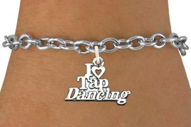 <bR>                      EXCLUSIVELY OURS!!<BR>                AN ALLAN ROBIN DESIGN!!<BR>       CLICK HERE TO SEE 600+ EXCITING<BR>          CHANGES THAT YOU CAN MAKE!<BR>                     LEAD & NICKEL FREE!!<BR>   W1106SB - I HEART TAP DANCING CHARM <Br>   & BRACELET FROM $4.15 TO $8.00 �2011