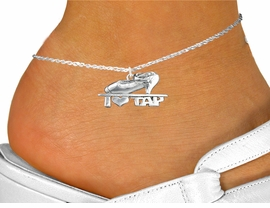 "<bR>                 EXCLUSIVELY OURS!!<BR>           AN ALLAN ROBIN DESIGN!!<BR>  CLICK HERE TO SEE 600+ EXCITING<BR>     CHANGES THAT YOU CAN MAKE!<BR>                LEAD & NICKEL FREE!!<BR>    W1108SAK - ""I HEART TAP "" CHARM <Br>   & ANKLET FROM $3.35 TO $8.00 �2011"