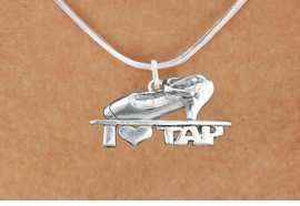 "<bR>                      EXCLUSIVELY OURS!!<BR>                AN ALLAN ROBIN DESIGN!!<BR>       CLICK HERE TO SEE 600+ EXCITING<BR>          CHANGES THAT YOU CAN MAKE!<BR>                     LEAD & NICKEL FREE!!<BR>   W1108SN - ""I HEART TAP"" CHARM & <Br>    NECKLACE FROM $4.50 TO $8.35 �2011"