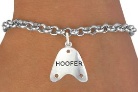 """<bR>                      EXCLUSIVELY OURS!!<BR>                AN ALLAN ROBIN DESIGN!!<BR>       CLICK HERE TO SEE 600+ EXCITING<BR>          CHANGES THAT YOU CAN MAKE!<BR>                     LEAD & NICKEL FREE!!<BR>         W1109SB - """"HOOFER"""" CHARM & <Br>     BRACELET FROM $4.15 TO $8.00 �2011"""