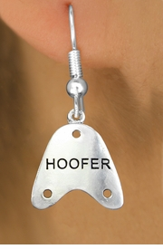 "<bR>                   EXCLUSIVELY OURS!!<BR>             AN ALLAN ROBIN DESIGN!!<BR>    CLICK HERE TO SEE 600+ EXCITING<BR>       CHANGES THAT YOU CAN MAKE!<BR>                  LEAD & NICKEL FREE!!<BR>     W1109SE - ""HOOFER"" CHARM<Br>EARRINGS FROM $4.50 TO $8.35 �2011"