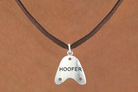 """<bR>                      EXCLUSIVELY OURS!!<BR>                AN ALLAN ROBIN DESIGN!!<BR>       CLICK HERE TO SEE 600+ EXCITING<BR>          CHANGES THAT YOU CAN MAKE!<BR>                     LEAD & NICKEL FREE!!<BR>     W1109SN - """"HOOFER"""" CHARM & <Br>    NECKLACE FROM $4.50 TO $8.35 �2011"""