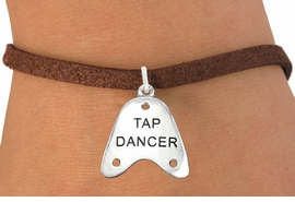 "<bR>                      EXCLUSIVELY OURS!!<BR>                AN ALLAN ROBIN DESIGN!!<BR>       CLICK HERE TO SEE 600+ EXCITING<BR>          CHANGES THAT YOU CAN MAKE!<BR>                     LEAD & NICKEL FREE!!<BR>       W1110SB - ""TAP DANCER"" CHARM & <Br>     BRACELET FROM $4.15 TO $8.00 �2011"