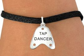 """<bR>                      EXCLUSIVELY OURS!!<BR>                AN ALLAN ROBIN DESIGN!!<BR>       CLICK HERE TO SEE 600+ EXCITING<BR>          CHANGES THAT YOU CAN MAKE!<BR>                     LEAD & NICKEL FREE!!<BR>       W1110SB - """"TAP DANCER"""" CHARM & <Br>     BRACELET FROM $4.15 TO $8.00 �2011"""