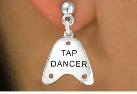 "<bR>                   EXCLUSIVELY OURS!!<BR>             AN ALLAN ROBIN DESIGN!!<BR>    CLICK HERE TO SEE 600+ EXCITING<BR>       CHANGES THAT YOU CAN MAKE!<BR>                  LEAD & NICKEL FREE!!<BR>     W1110SE - ""TAP DANCER"" CHARM<Br>EARRINGS FROM $4.50 TO $8.35 �2011"