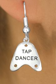 """<bR>                   EXCLUSIVELY OURS!!<BR>             AN ALLAN ROBIN DESIGN!!<BR>    CLICK HERE TO SEE 600+ EXCITING<BR>       CHANGES THAT YOU CAN MAKE!<BR>                  LEAD & NICKEL FREE!!<BR>     W1110SE - """"TAP DANCER"""" CHARM<Br>EARRINGS FROM $4.50 TO $8.35 �2011"""
