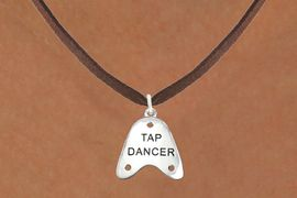 """<bR>                      EXCLUSIVELY OURS!!<BR>                AN ALLAN ROBIN DESIGN!!<BR>       CLICK HERE TO SEE 600+ EXCITING<BR>          CHANGES THAT YOU CAN MAKE!<BR>                     LEAD & NICKEL FREE!!<BR>   W1110SN - """"TAP DANCER"""" CHARM & <Br>    NECKLACE FROM $4.50 TO $8.35 �2011"""
