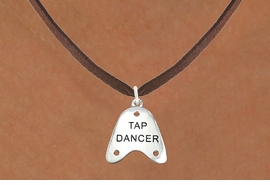 "<bR>                      EXCLUSIVELY OURS!!<BR>                AN ALLAN ROBIN DESIGN!!<BR>       CLICK HERE TO SEE 600+ EXCITING<BR>          CHANGES THAT YOU CAN MAKE!<BR>                     LEAD & NICKEL FREE!!<BR>   W1110SN - ""TAP DANCER"" CHARM & <Br>    NECKLACE FROM $4.50 TO $8.35 �2011"