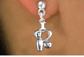 "<bR>                   EXCLUSIVELY OURS!!<BR>             AN ALLAN ROBIN DESIGN!!<BR>    CLICK HERE TO SEE 600+ EXCITING<BR>       CHANGES THAT YOU CAN MAKE!<BR>                  LEAD & NICKEL FREE!!<BR>W1114SE - ""I LOVE BOWLING"" CHARM<Br>EARRINGS FROM $4.50 TO $8.35 �2011"