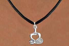 "<bR>                      EXCLUSIVELY OURS!!<BR>                AN ALLAN ROBIN DESIGN!!<BR>       CLICK HERE TO SEE 600+ EXCITING<BR>          CHANGES THAT YOU CAN MAKE!<BR>                     LEAD & NICKEL FREE!!<BR>     W1115SN - ""I LOVE TENNIS"" CHARM & <Br>    NECKLACE FROM $4.50 TO $8.35 �2011"