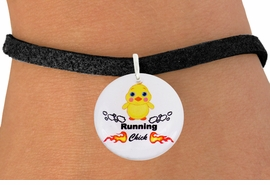 """<bR>                               EXCLUSIVELY OURS!!<BR>                         AN ALLAN ROBIN DESIGN!!<BR>                CLICK HERE TO SEE 600+ EXCITING<BR>                   CHANGES THAT YOU CAN MAKE!<BR>                             LEAD & NICKEL FREE!!<BR>       W1126SB - """"RUNNING CHICK"""" CHARM <Br>      & BRACELET FROM $4.15 TO $8.00 �2011"""