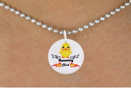 "<bR>                              EXCLUSIVELY OURS!!<BR>                        AN ALLAN ROBIN DESIGN!!<BR>               CLICK HERE TO SEE 600+ EXCITING<BR>                  CHANGES THAT YOU CAN MAKE!<BR>                             LEAD & NICKEL FREE!!<BR>          W1126SN - ""RUNNING CHICK"" CHARM<Br>        & NECKLACE FROM $4.50 TO $8.35 �2011"