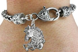 <bR>                             EXCLUSIVELY OURS!!<BR>                       AN ALLAN ROBIN DESIGN!!<BR>              CLICK HERE TO SEE 600+ EXCITING<BR>                 CHANGES THAT YOU CAN MAKE!<BR>                           LEAD & NICKEL FREE!!<BR>W1140SB - CRYSTAL HORSE CHARM  & HEART <Br>CLASP BRACELET FROM $5.63 TO $12.50 �2012