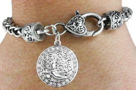 <bR>                             EXCLUSIVELY OURS!!<BR>                       AN ALLAN ROBIN DESIGN!!<BR>              CLICK HERE TO SEE 600+ EXCITING<BR>                 CHANGES THAT YOU CAN MAKE!<BR>                           LEAD & NICKEL FREE!!<BR>W1141SB - CRYSTAL WESTERN BOOT CIRCLE CHARM  <Br>& HEART CLASP BRACELET FROM $5.63 TO $12.50 �2012