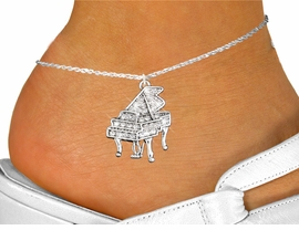 <bR>    GRAND PIANO ADJUSTABLE CRYSTAL STONE<BR>      ANKLET, LEAD, NICKEL & CADMIUM FREE!!<BR>      W1170SAK - GRAND PIANO CHARM<Br>              & ANKLET $9.68 EACH  �2012